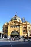 Beschäftigte Flinders-Straßen-Station Stockfotografie