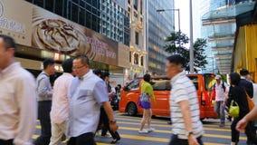 Beschäftigte Kurve Hong Kong-Stadt stock footage