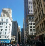 Beschäftigte San Francisco-Straßen im Stadtzentrum gelegen Lizenzfreie Stockfotos
