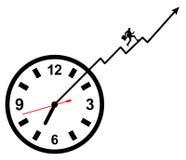 Beschäftigte Tagesfristenarbeit stock abbildung