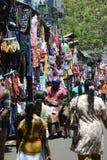 Beschäftigter bunter Markt Sri Lankan stockbild