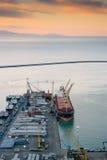 Beschäftigter Hafen von Salerno, Italien Lizenzfreies Stockfoto