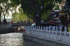 Beschäftigter Park in Peking stockfoto