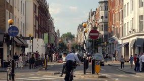 Beschäftigter Thayer Street, im Marylebone, London, Großbritannien stock footage