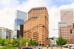 Beschäftigtes im Stadtzentrum gelegenes Denver Lizenzfreie Stockfotos