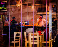 Beschäftigtes Restaurant-Personal Lizenzfreies Stockbild