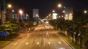Beschäftigtes Verkehr timelaspe stock footage