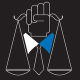 Beschäftigung-Gesetz stock abbildung