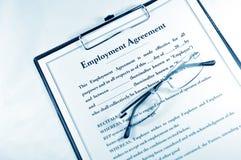 Beschäftigung-Vereinbarung Stockfotografie
