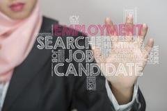 Beschäftigung wordcloud Lizenzfreies Stockfoto
