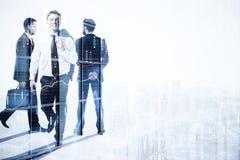 Beschäftigungs-, Teamwork- und Bankwesenkonzept stockbilder