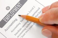 Beschäftigungsmöglichkeit eingestuft lizenzfreies stockfoto