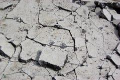 Beschadigd asfalt Royalty-vrije Stock Foto's