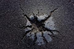 Beschadigd asfalt royalty-vrije stock afbeeldingen