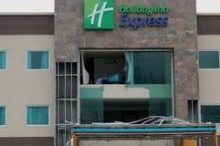 Beschadigd door het hotel van orkaanodile Stock Fotografie