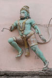 Beschadigd Lord Hanuman-standbeeld in Madurai Royalty-vrije Stock Foto