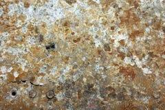 Beschadigde & geroeste textuur fromYak-9 van metaalpanelen Stock Foto's