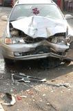 Beschadigde auto royalty-vrije stock foto