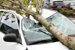 Beschadigde auto Royalty-vrije Stock Foto's