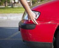 Beschadigde auto Stock Foto's