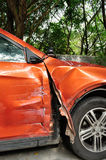 Beschadigde auto na ongeval Royalty-vrije Stock Fotografie