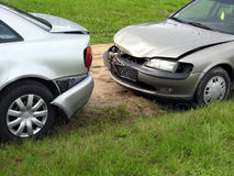 Beschadigde auto's Stock Foto