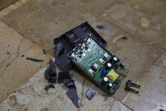 Beschadigde batterijlader Royalty-vrije Stock Foto's