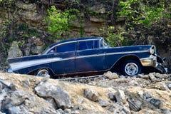 Beschadigde 1957 Chevrolet Bel Air Stock Afbeelding
