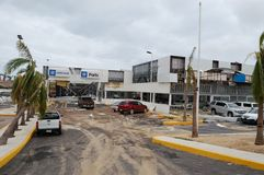 Beschadigde Chevrolet-salon in Cabo San Lucas stock foto's