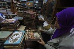 Beschadigde codex Stock Foto
