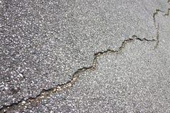 Beschadigde de weg van het asfalt Stock Foto
