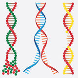 Beschadigde DNA. Stock Afbeeldingen