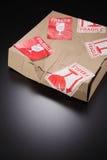 Beschadigde doos Stock Foto's