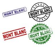 Beschadigde Geweven MONT BLANC-Verbindingszegels royalty-vrije illustratie
