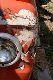Beschadigde het Registreren Vrachtwagen Front End stock fotografie