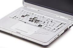 Beschadigde laptop met royalty-vrije stock foto