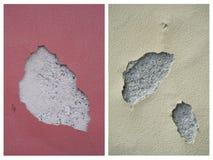 Beschadigde Muren Stock Afbeeldingen