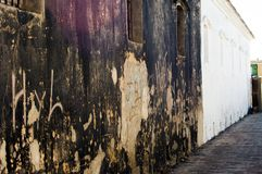 Beschadigde Muur Stock Foto