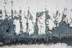 Beschadigde muurlagen stock fotografie