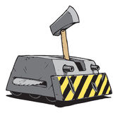 Beschadigde RC-Slag Bot Stock Afbeelding