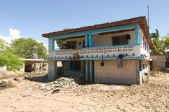 Beschadigde School stock afbeelding