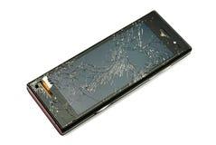 Beschadigde slimme telefoon Royalty-vrije Stock Foto's