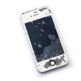 Beschadigde smartphone royalty-vrije stock foto