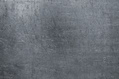Beschadigde staaltextuur, donkere metaalachtergrond met krassen op t Royalty-vrije Stock Afbeelding