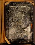 Beschadigde tablet Royalty-vrije Stock Foto's