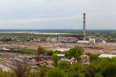 Beschadigde thermische elektrische centrale Royalty-vrije Stock Fotografie