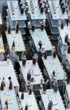 Beschadigde Transformatorwerf Stock Fotografie