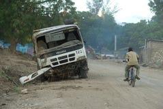 Beschadigde Vrachtwagen Royalty-vrije Stock Afbeeldingen