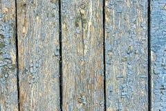 Beschaffenheit, alte blaue Farbe auf den Brettern Lizenzfreie Stockfotos