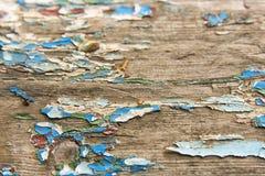 Beschaffenheit, alte blaue Farbe auf den Brettern Lizenzfreie Stockbilder